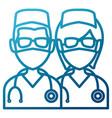 medical teamwork avatar vector image vector image