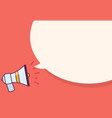 megaphone with speak bubble for advertisement vector image