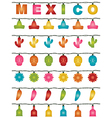 mexican lights vector image vector image