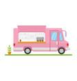 modern minimalist food car design flat vector image