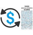 Money Turnover Icon with 1000 Medical Business vector image vector image