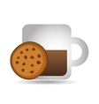 mug coffee cookie round bakery icon design graphic vector image vector image