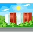 Multi-storey house landscape vector image vector image
