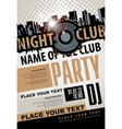 musical party in night club vector image vector image