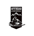 offroad extreme adventure emblem template with vector image vector image