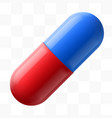 pill on transparent background medicine vector image vector image
