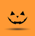pumpkin face jack o lantern icon for halloween vector image