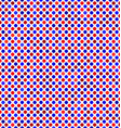 Red blue abstract dot pattern background vector image vector image
