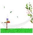 Relaxing Hammock Background vector image
