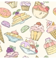 seamless pattern cakes vector image