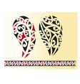 set maori tribal tattoo vector image vector image