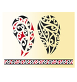 Set of maori tribal tattoo vector image
