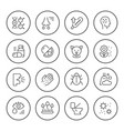 set round line icons of allergy vector image vector image