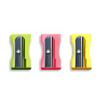 Sharpener realistic colorful set isolated
