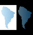south america map hex-tile abstraction vector image vector image