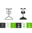 sprout simple black line icon vector image