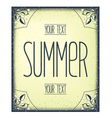 Summer greeting template vector image