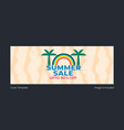 summer sale cover page vector image