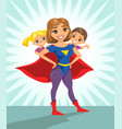 super hero super mom happy smiling super mother vector image vector image