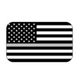 thin silver line us flag vector image