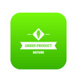 vegan product icon green vector image vector image