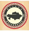 Vintage label-sticker cards of Kazakhstan vector image vector image