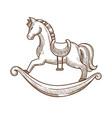wooden horse in saddle swing for little children vector image vector image