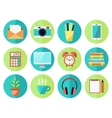 Business or Education Work Flow Items vector image