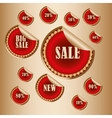 sticker Sale tags vector image