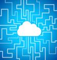 Cloud computing theme vector image