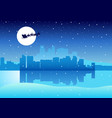 cityscape santa claus vector image