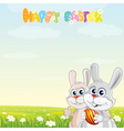 bunny friends vector image
