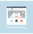 Company Website Wireframe vector image