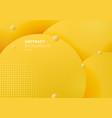 abstract 3d liquid fluid circles yellow mustard vector image vector image