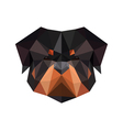 abstract polygonal dog rottweiler vector image
