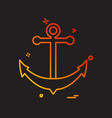anchor icon design vector image vector image