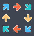 arrows signs make a circle movement colored icons vector image