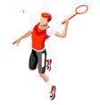 Badminton 2016 Sports 3D Isometric vector image vector image