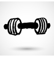Barbell - Grunge Icon vector image vector image