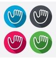 Baseball glove sign icon Sport symbol vector image