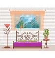 bedroom interior colorful vector image vector image