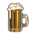 beer mug design element for logo label emblem vector image vector image