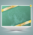 Big banner with gold ribbon vector image vector image