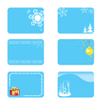 blue christmas cards with decorations vector image