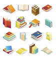 book icon isometric set vector image vector image