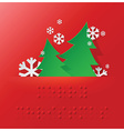 Braille Alphabet Christmas Background Banner With vector image vector image