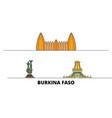 burkina faso flat landmarks vector image vector image