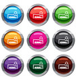 car and padlock set 9 collection vector image vector image