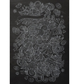 Cartoon chalkboard doodles on the subject of vector image vector image