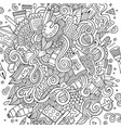 cartoon cute doodles hand drawn artistic vector image vector image